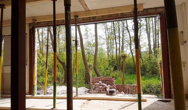 Draagconstructie buitenmuur voor nieuwe pui